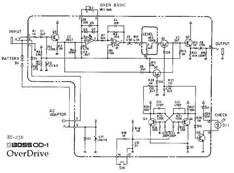od 1 overdrive guitar pedal schematic diagram
