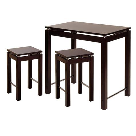 kitchen island table furniture linea 3pc pub kitchen set island table with 2 stools