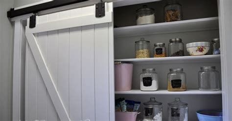 barn door style kitchen cabinets adding a pantry w a sliding barn door hometalk 7598