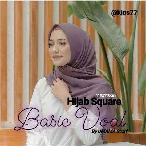 jilbab segiempat voal basic polos scarf  umama hijab