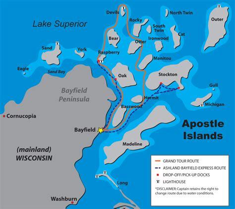 Apostle Islands Map & Directions : Apostle Islands Cruises