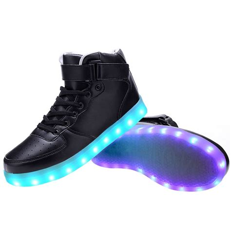 sneakers light up high top usb charging led light up shoes