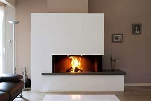 Cheminée Bois Design : pose de chemin e contemporaine bordeaux chemin es fariello ~ Premium-room.com Idées de Décoration