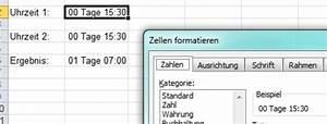 Excel Arbeitszeit Berechnen Formel : zeitrechnen mit excel geht es so ~ Themetempest.com Abrechnung