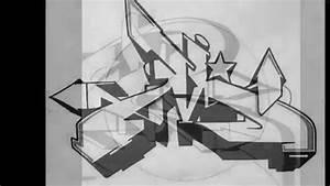 Alphabet Graffiti Letter M Wildstyle - Graffiti Art