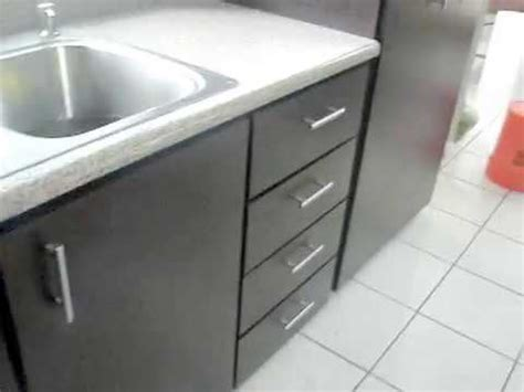 gabinete pvc de cocina color wengue    youtube