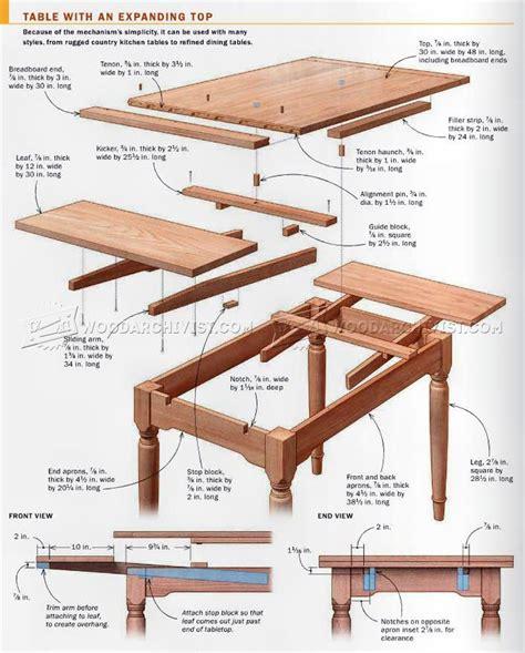 expanding table plans woodarchivist