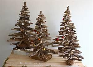 Arbre De Noel En Bois : sapin de no l en bois flott rouge poussin ~ Farleysfitness.com Idées de Décoration
