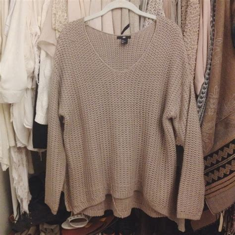 taupe sweater h m sold h m oversized knit sweater taupe m from