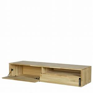 Meuble Tv Chene Massif Moderne : meuble tv suspendu ch ne massif tygo by drawer ~ Teatrodelosmanantiales.com Idées de Décoration