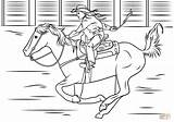 Coloring Horse Riding Pages Cowgirl Rodeo Printable Drawing Colouring Cowboy Animal Drawings Supercoloring Adult Puzzle Colorings Children Paper Super sketch template
