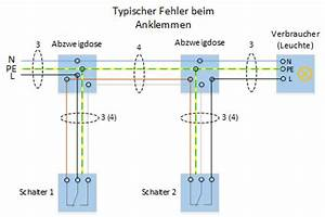 Schaltplan Für Wechselschaltung : wechselschaltung 2 schalter 2 lampen 2 steckdosen ~ Eleganceandgraceweddings.com Haus und Dekorationen