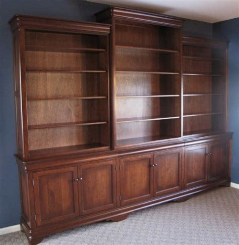 Bookcases Wall Units by Custom Cherry Bookcase Wall Unit Amish Handcrafted