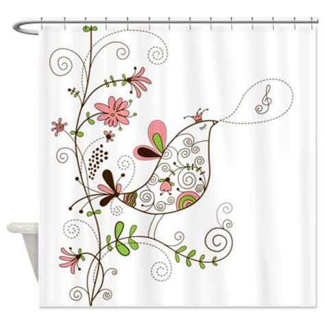 makanahele singing floral bird shower curtain