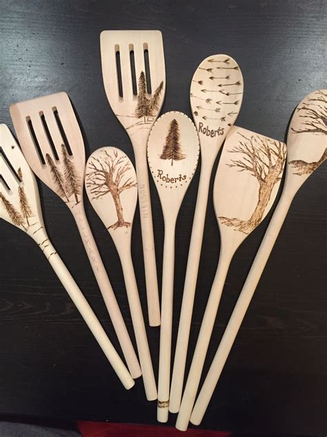 wood burned spoons wood etching wood burn spoons wood