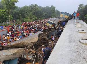 Trains collide in Bangladesh, killing at least 16 ...
