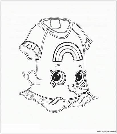 Shopkins Coloring Pages Pajamas Printable Shoppies Anna