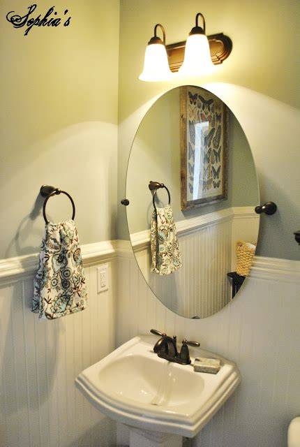Sophia's Powder Room Makeover. Vanity Backsplash. Antique Makeup Vanity. Martini Table. Square Dining Table For 12. Bathroom Ceiling. Small Corner Fireplace. Thermal Windows. Bench For Dining Table