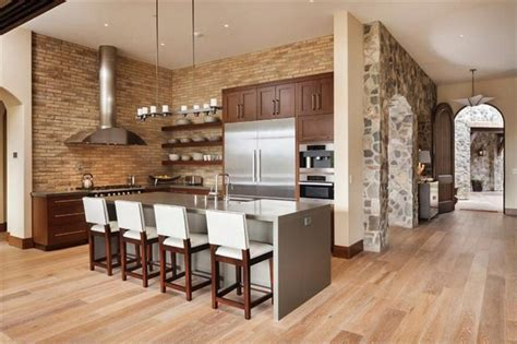 kitchen island brick 35 beautiful rustic kitchens design ideas designing idea 1849