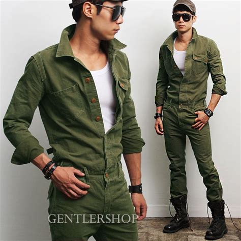jumpsuit mens details about mens fashion look khaki one