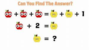 Can you solve this APPLE QUIZ? Best Math Puzzles & Riddles ...