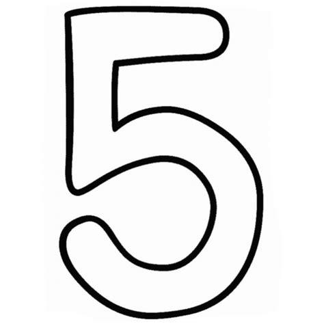 disegni numeri da colorare per bambini disegno di numero cinque da colorare per bambini