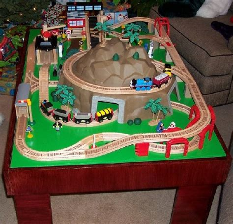diy train table top toy train table plans how to build toy train table