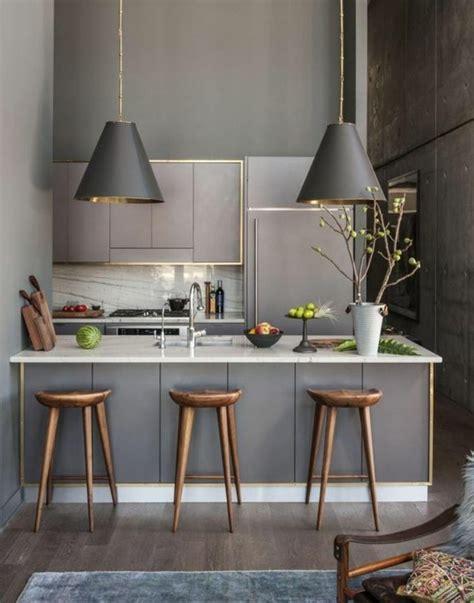 plan travail cuisine beton cire la cuisine équipée avec ilot central 66 idées en photos