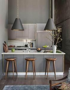 photo de cuisine ouverte avec ilot central 0 cuisine With meuble de salle a manger avec cuisine Équipée avec table intégrée