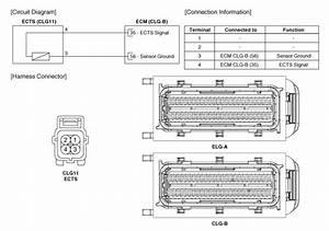 Hyundai Azera  Engine Coolant Temperature Sensor  Ects