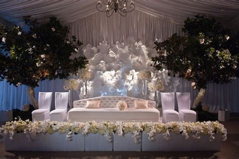 draping walls wedding reception this white wedding reception with sheer draping