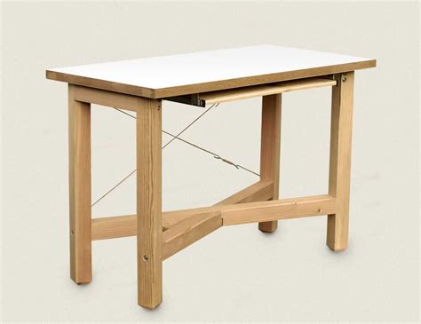 white desk with wood top standing laptop desk as home office decor