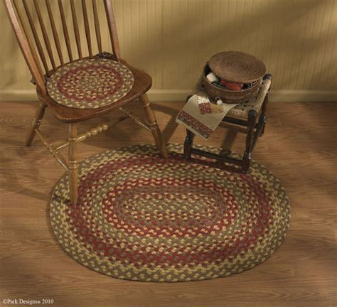 braided chair pads for kitchen chairs plaid country decor primitive home decors