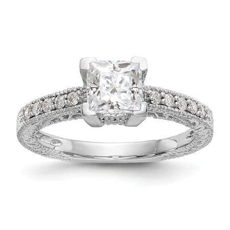 diamond2deal 14k white gold square cut wedding band ring walmart