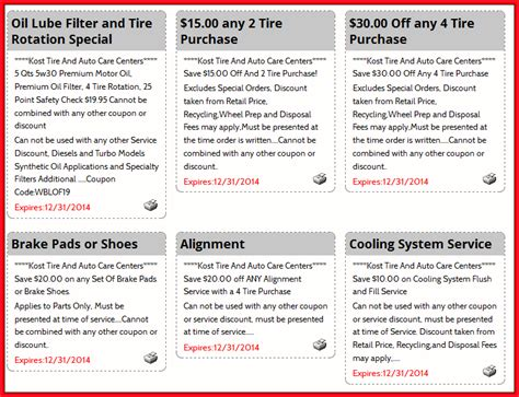 Kost Tire Coupons For Best Deals And Discounts