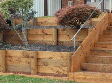 wood retaining wall drainage timber retaining wall design