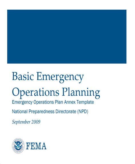Emergency Operation Plan Template by 8 Emergency Operations Plan Templates Free Sle