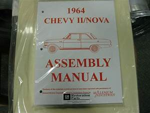 1964 Chevy Ii  Nova  All Models  Assembly Manual