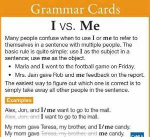 grammar i vs me divino