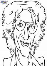 Celebrities Coloring Radio Howard Pages Stern Categories sketch template