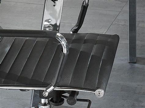 Poltrona Ufficio In Ecopelle : Poltrona Sedia Delroy Bassa Per Ufficio In Ecopelle Nera