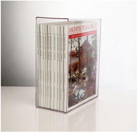 plastic magazine holders acrylic clear magazine holder magazines vertically 1545