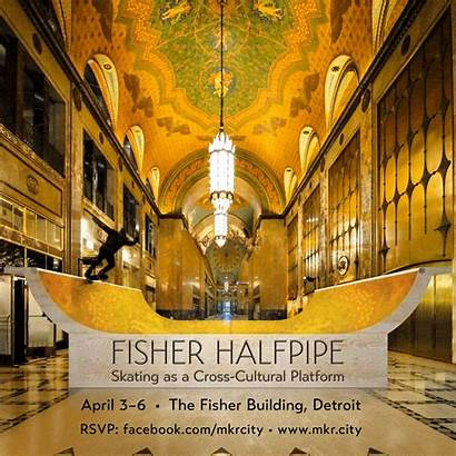 Fisher Building Halfpipe Detroit Orlando Poster Host