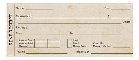 Printable Rent Receipt