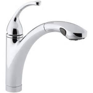 kohler kitchen sink faucet kohler forté single or 3 kitchen sink faucet with 10 1 8 quot pullout spray spout