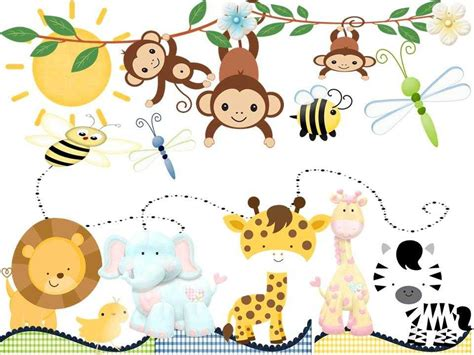 animales de la selva para ni 241 os decoracion sabana recortar imagenes animalitos ewasda