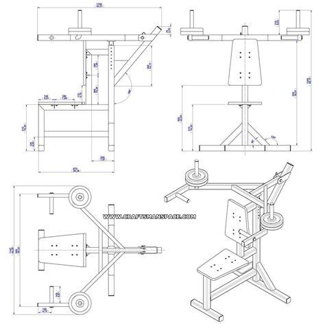 Shoulder Press Bench Plan  Assembly Drawing Shoulder
