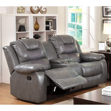 Loveseat Recliner by Furniture Of America Claybrooks Recliner Loveseat With