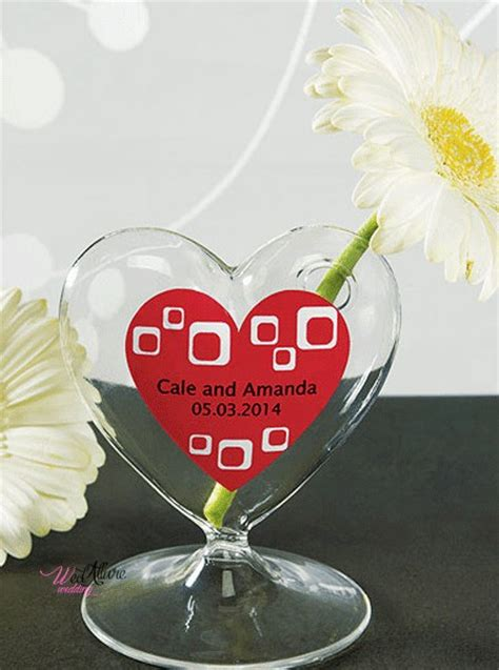 cuore e vasi vaso centrotavola cuore