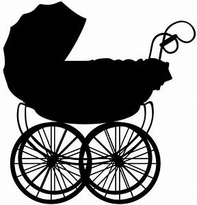 Baby Carriage Silhouette | Free vector silhouettes